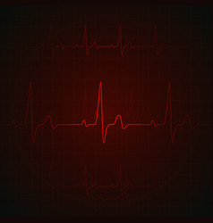 heart pulse on red display heartbeat graphic or vector image