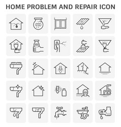 Home problem icon vector