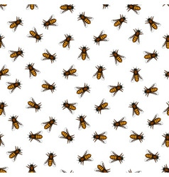 Honeybee pattern vector
