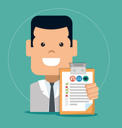 insurance service business agent vector image