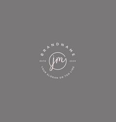 Jm letter feminine logo design vector
