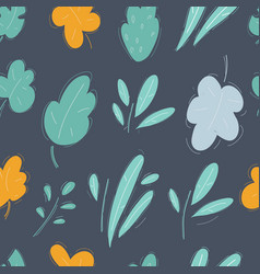 Leaves and twigs bush green seamless bush vector