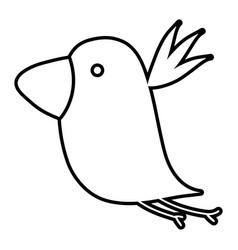 line exotic nice bird fauna animal vector image