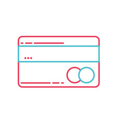 line finance electronic credit card business vector image