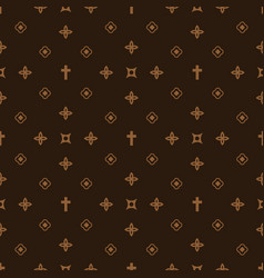 Luxury style fashion seamless pattern vector