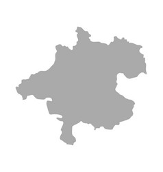 Map of upper austria vector