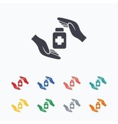 Medical insurance sign Health insurance symbol vector image