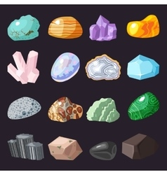 Mineral stone set vector