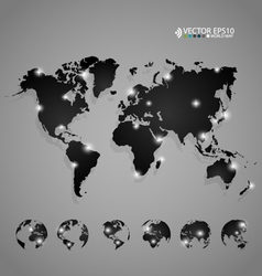Modern world map design vector image