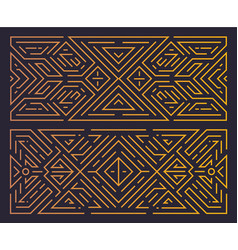 monogram geometric art deco frame golden vector image