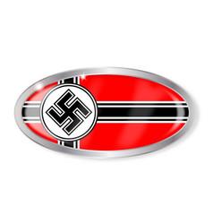 nazi flag oval button vector image