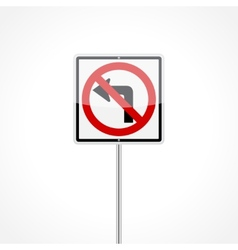 No Left Turn Sign vector image