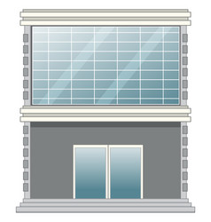 Office building on white background vector