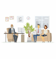 Office head consultation - modern cartoon vector