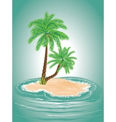 Palm Tree on Island2 vector