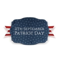 Patriot Day - 11th September Banner with Ribbon vector