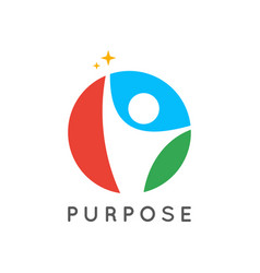 people logo icon purpose concept with human vector image