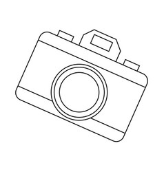 photo camera device picture lens flash icon vector image