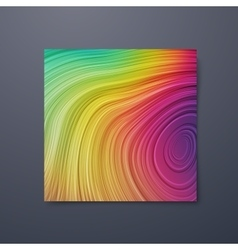 Poster design template with swirled iridescent vector image