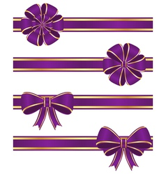Purple ribbons vector image