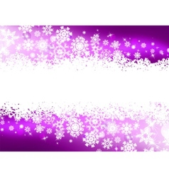 purple winter background vector image