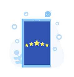 rating feedback comments design concept vector image