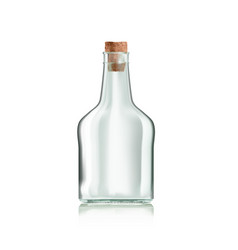 Realistic transparent clear liquor or wine empty vector
