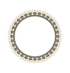 round elegant frame vector image