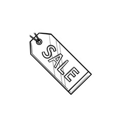 sale tag hand drawn outline doodle icon vector image