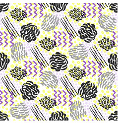 seamless pattern with grunge textures fashion vector image