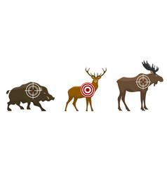 Set a hunter target wild animals - victim vector