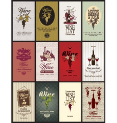 set wine vector image