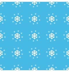 Snowflakes straight pattern vector image