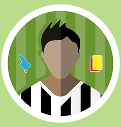 Soccer Referee Icon vector