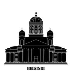 symbol helsinki finland - cathedral vector image