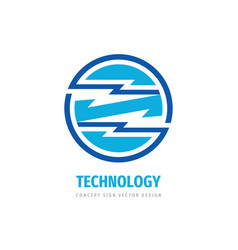 technology concept logo design electronic network vector image