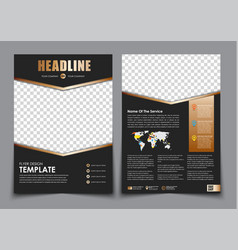 Template flyer black with golden arrows design 2 vector