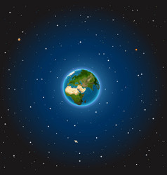 the earth on space vector image