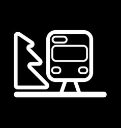 Train outline isolated on black vector