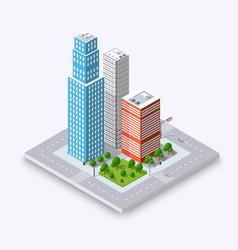 urban elements architecture vector image