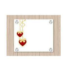 valentine fence vector image