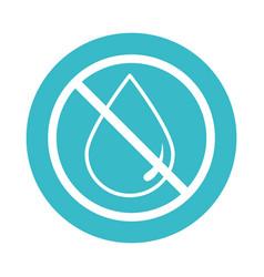 water drop forbidden nature liquid blue block vector image
