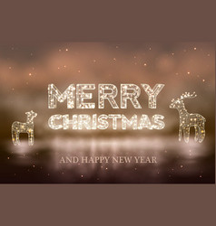 beautiful christmas bokeh background with lighten vector image