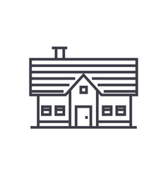 country house line icon sign vector image