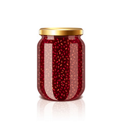 jam jar isolated vector image vector image