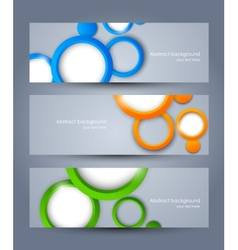 Set of banners with colorful circles vector image