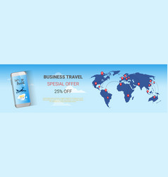 travel company sale banner business tour special vector image