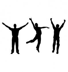 winners and happy men vector image vector image
