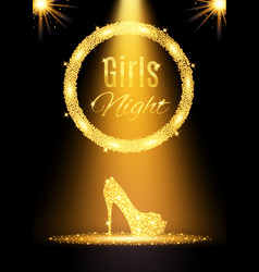 gold girls night out party poster vector image