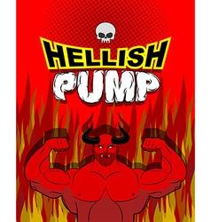 Hellish pump Satan bodybuilder with huge muscles vector image vector image